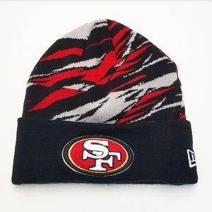 49ers New Era Black, Red and Grey Beanie
